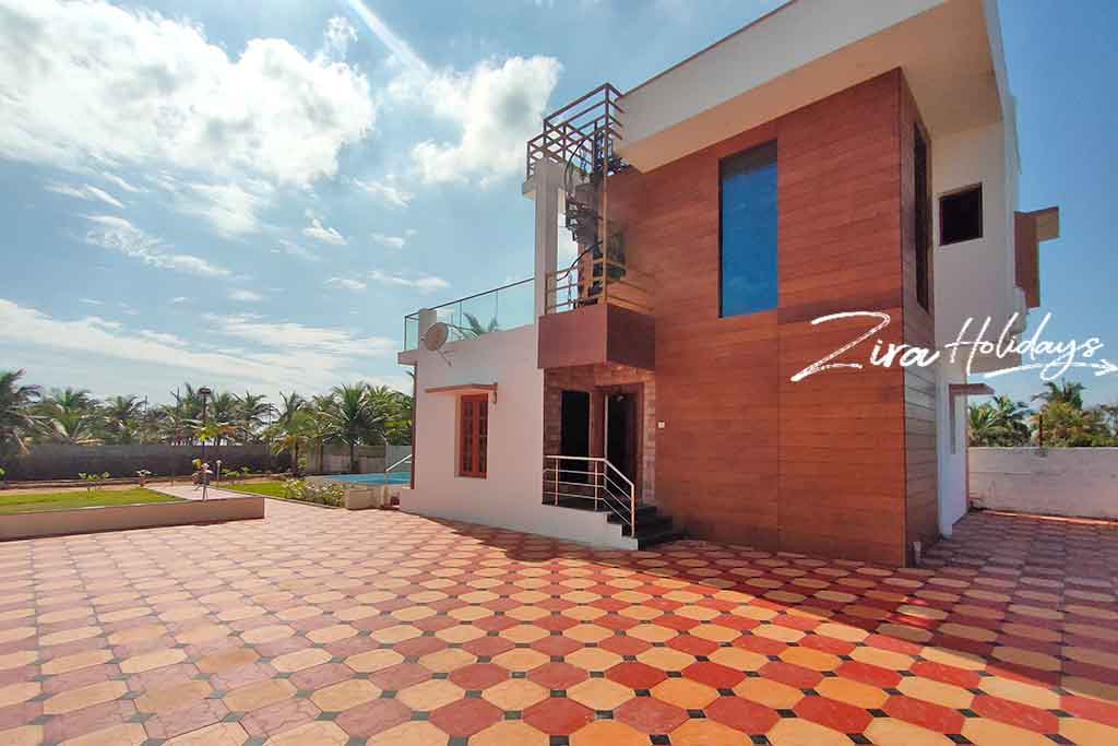 beach villa for rent in pondicherry