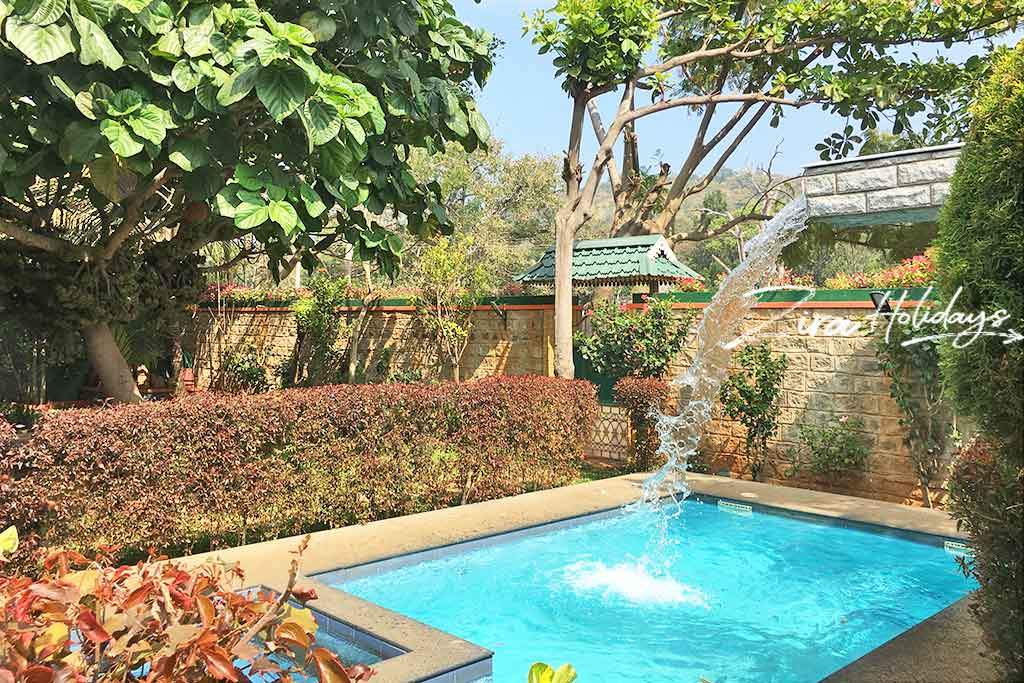 cottages with swimming pool in yelagiri