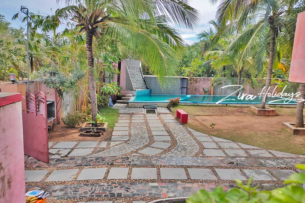 individual beach house for rent in panaiyur