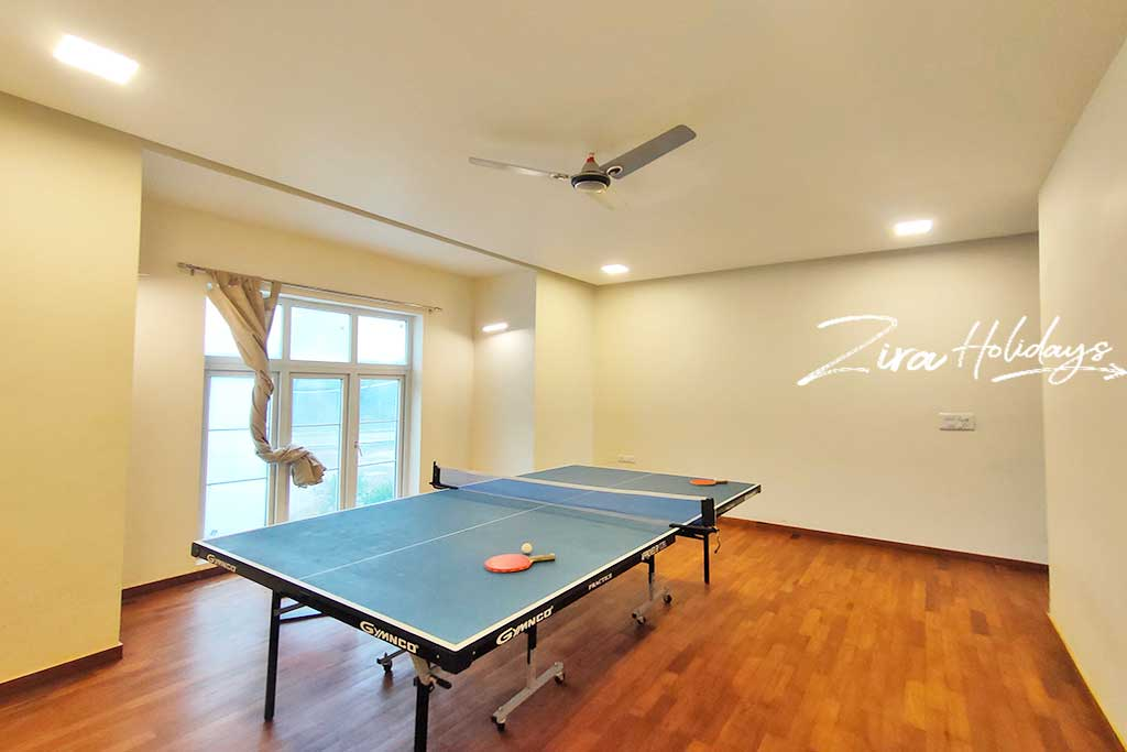 beach house with table tennis