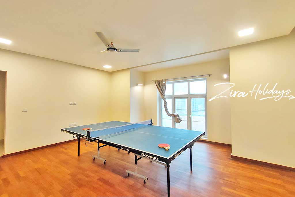 beach villa with table tennis